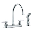 Design House Aberdeen High Arch Kitchen Faucet with Sprayer, Polished Chrome Finish - 525527