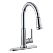 Design House 525725 Geneva Kitchen Faucet with Pullout Sprayer