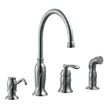 Design House 525808 Madison Kitchen Faucet with Sprayer and Soap Dispenser