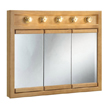 Design House Richland Lighted Tri-View Wall Cabinet Mirror, 36inx30 - 530618