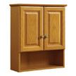 Design House 531962 Honey Wall Cabinet with 2-Doors, 21in x 8in x 26in