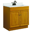 Design House 531996 Honey Vanity Cabinet with 2-Doors, 30in x 18in x 31.5in