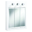 Design House Concord White Gloss Lighted Medicine Cabinet Mirror with 3-Doors and 2-Shelves, 24in x 5in x 30in - 532374