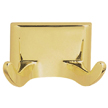 Design House Millbridge Double Robe Hook, Polished Brass Finish - 533307