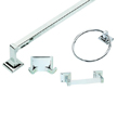 Design House 534628 Millbridge 4-Piece Bathroom Kit, Polished Chrome Finish