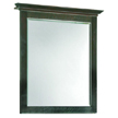 Design House Ventura Espresso Wall Mirror with Solid Maple Frames, 26in x 30in - 539692