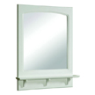 Design House 539916 Concord White Gloss Mirror with Shelf, 25.6in x 4in x 31in