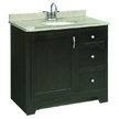 Design House 541284 Vanity Cabinet with 1-Door and 2-Drawers, 36in x 33.5in