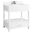 Design House 541532 Concord White Gloss Console Vanity, 30in x 21in