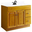 Design House Honey Vanity Cabinet with 2-Doors and 2-Drawers - 545186