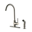 Design House 545715 Springport Kitchen Faucet with Side Sprayer, Satin Nickel