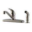 Design House 545855 Middleton Kitchen Faucet with Side Sprayer, Satin Nickel