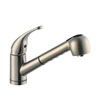Design House 545871 Milano Kitchen Pullout Faucet, Satin Nickel