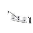 Design House 545996 Millbridge Dual Handle Kitchen Faucet With Sprayer, Chrome