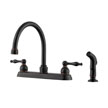 Design House 546101 Saratoga Kitchen Faucet with Side Sprayer, Bronze
