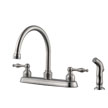 Design House 546119 Saratoga Kitchen Faucet with Side Sprayer, Satin Nickel