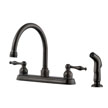 Design House 546127 Saratoga Kitchen Faucet with Side Sprayer, Brushed Bronze