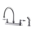 Design House 546135 Saratoga Kitchen Faucet with Side Sprayer, Polished Chrome