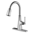 Design House Perth Single Handle Kitchen Faucet with Sprayer, Nickel - 546986