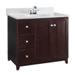 Design House Furniture-Style Vanity Cabinet, 36-In by 21-In, Espresso - 547034