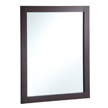 Design House 24-inch by 30-inch Vanity Mirror, Espresso - 547083