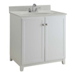Design House Furniture-Style Vanity Cabinet, 30-In by 21-In, White - 547133