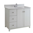 Design House Furniture-Style Vanity Cabinet, 36-In by 21-In, White - 547166