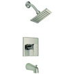 Design House Karsen Tub and Shower Faucet, Nickel Finish - 547612