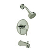 Design House Eastport Tub and Shower Faucet, Nickel Finish - 547679