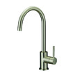 Design House Eastport Single Handle Kitchen Faucet, Nickel Finish - 547737