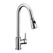 Design House Eastport Single Handle Pull Down Kitchen Faucet, Chrome - 547869