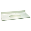 Design House 551085 Single Bowl Marble Vanity Top, 49-Inch by 19-Inch, White