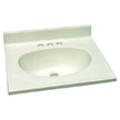 Design House 551150 Single Bowl Marble Vanity Top, 25-Inch by 22-Inch, White