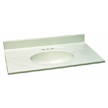 Design House 551176 Single Bowl Marble Vanity Top, 37-Inch by 22-Inch, White