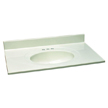 Design House 551184 Single Bowl Marble Vanity Top, 49-Inch by 22-Inch, White