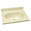 Design House 551192 Single Bowl Marble Vanity Top, 25-Inch by 22-Inch Bone