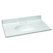 Design House 551333 Single Bowl Marble Vanity Top, 31-Inch by 19-Inch