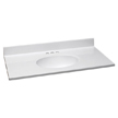 Design House 551341 Single Bowl Marble Vanity Top, 37-Inch by 19-Inch