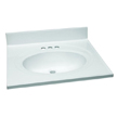 Design House 551366 Single Bowl Marble Vanity Top, 25-Inch by 22-Inch