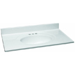 Design House 551382 Single Bowl Marble Vanity Top, 37-Inch by 22-Inch