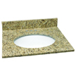 Design House 552406 Single Bowl Granite Vanity Top, 25-Inch by 22-Inch