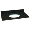 Design House 552562 Single Bowl Granite Vanity Top, 61in x 22in, Ubatuba