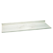 Design House 553354 Single Bowl Cultured Marble Vanity Top, 61in x 22in, White