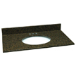 Design House 553735 Single Bowl Granite Vanity Top, 25-Inch by 22-Inch