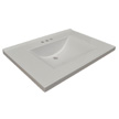 Design House Contempo Vanity Top, 25-In by 22-In, Solid White - 553933