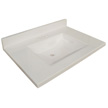 Design House Wave Bowl Granite Vanity Top, 25-In by 22-In, White - 554022