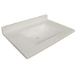Design House Wave Bowl Premium Granite Vanity Top, 31-inches by 22-inches, Solid White - 554030