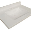 Design House Wave Bowl Granite Vanity Top, 49-In by 22-In, White - 554055