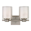 Design House 556142 Oslo 2 Light Indoor Wall Mount in Satin Nickel