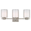 Design House 556159 Oslo 3 Light Indoor Wall Mount in Satin Nickel